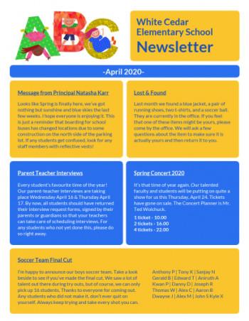 120 Free School Newsletter Templates Custom Newsletters