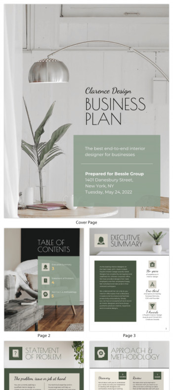 Business Plan Templates Venngage
