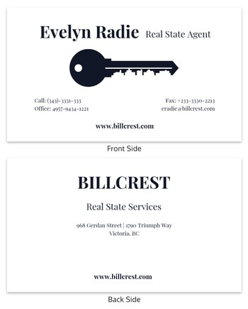 Immobilien Visitenkarten Vorlagen Venngage