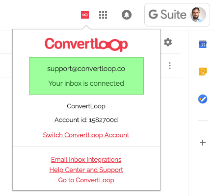 Convertloop chrome extension for gmail inbox automation email automation marketing inbox integrated