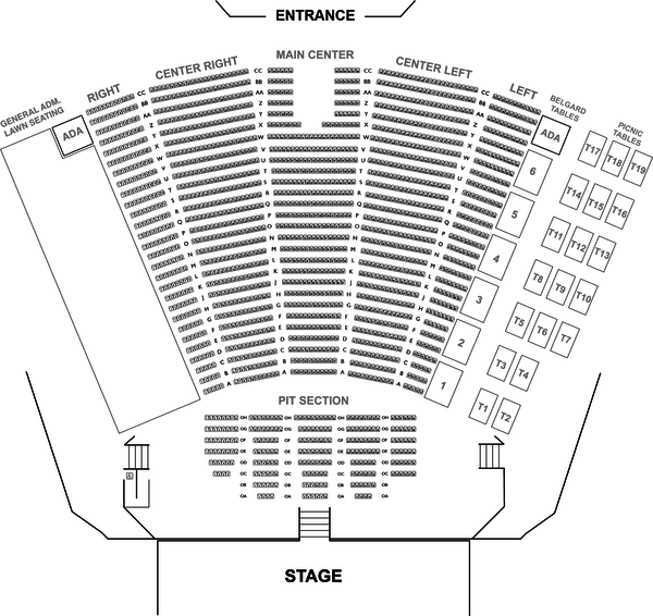 Frederick brown jr. amphitheater seating chart