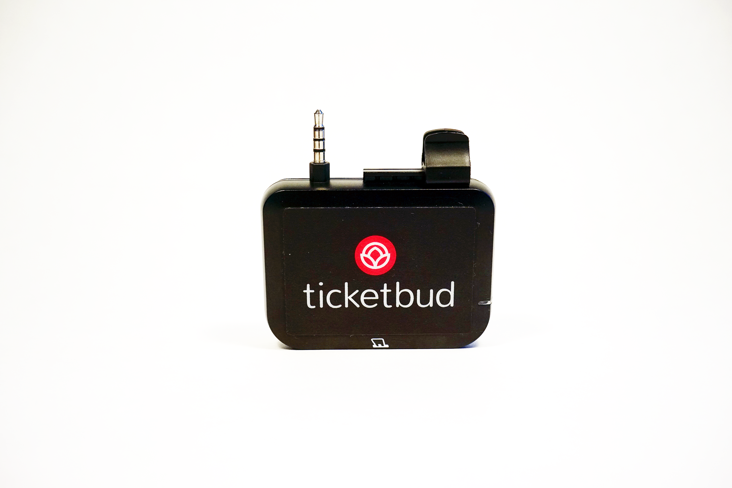 Image showing Ticketbud point of sale device by itself and not attached to an iOS device.