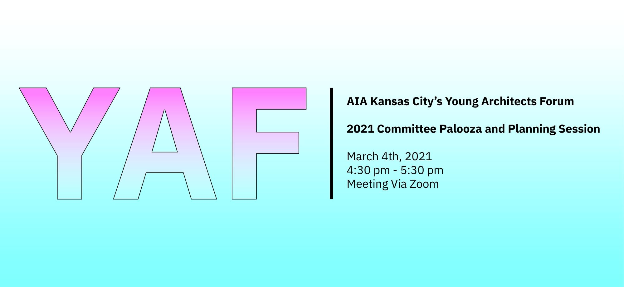Young Architects Forum | Committee Palooza