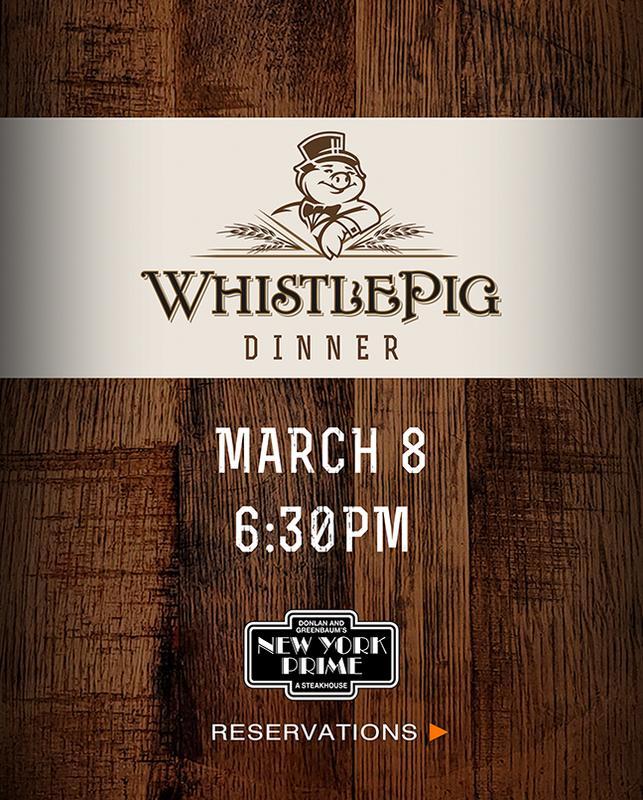 WhistlePig Rye Whiskey Dinner