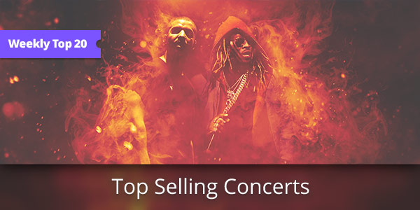 Weekly Top 20: Hottest Selling Concerts