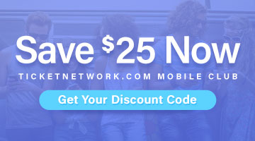 Join TicketNetwork's SMS Club for Exclusive savings!