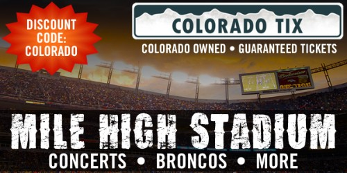 Mile High Stadium  Lowest priced tickets