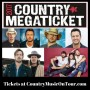 2017 Country Megaticket Lineup from Country Music On Tour!