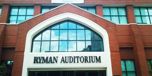 Ryman Auditorium History