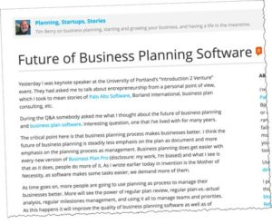 Future of Business Planning 2006