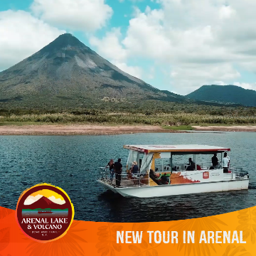 Arenal Volcano National Park by the Arenal Lake