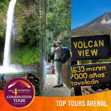 Combination Tour: top 4 Activities in la Fortuna Arenal