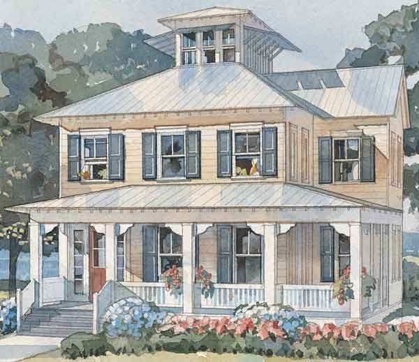 Southern Cottage House Plans: Bay Point Cottage - Caldwell/Cline Architects