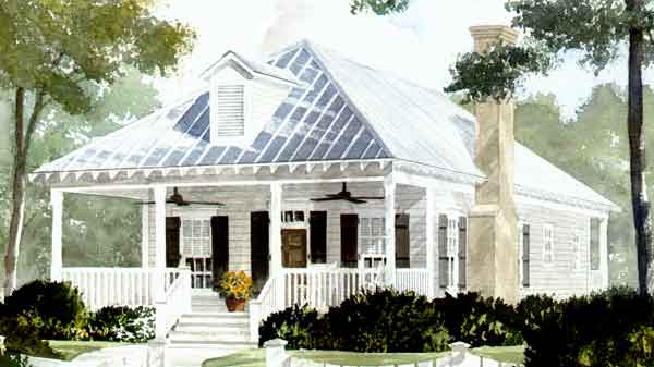 Southern Living Floor Plans: Holly Grove - John Tee, Architect