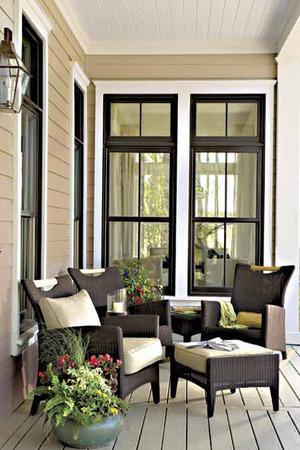 Tucker bayou st joe land company print southern - Houses with black windows ...