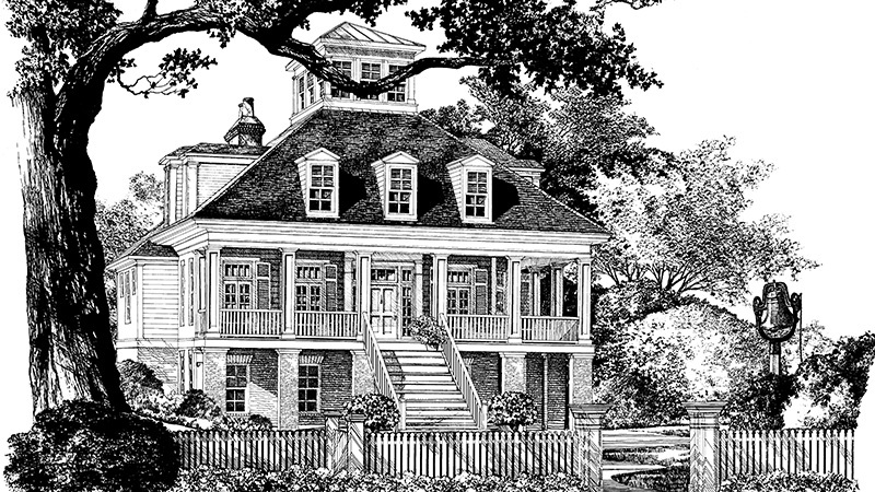 Charles Towne Place - Mitc Ginn | Southern Living House ... on raised southern house plans, raised cottage house plans, charleston low country home plans, raised ranch house plans, raised modern house plans, charleston lowcountry house plans, raised bungalow house plans,