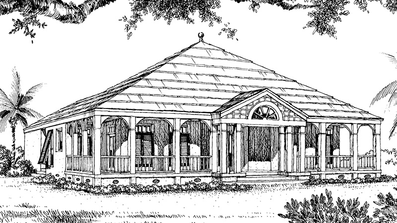 Southern Living House Plans | Summer Kitchen House Plans
