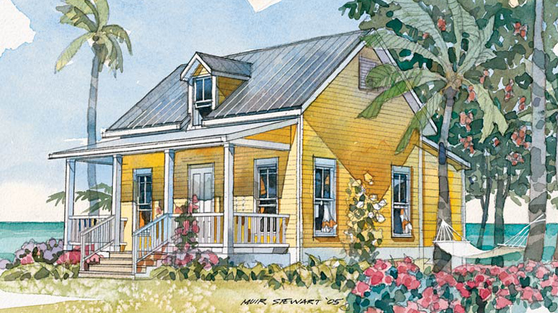 House Plan Small Home Design: Beachside Bungalow - Coastal Living