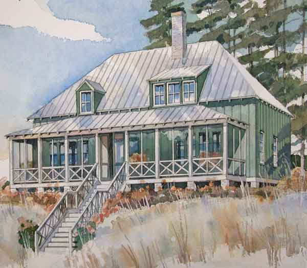 Southern Cottage House Plans: Tidewater/Low Country House Plans