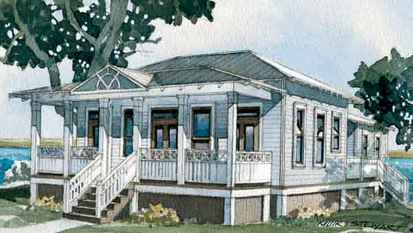 Southern Living House Plans | Tidewater/Low Country House Plans on raised ranch home plans, raised coastal home plans, raised southern home plans, low country cottage plans,