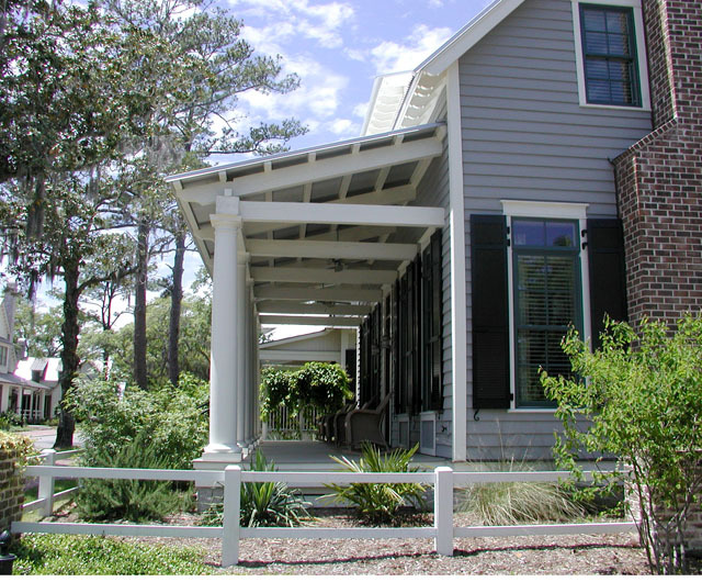 Exterior Front Porch Side View