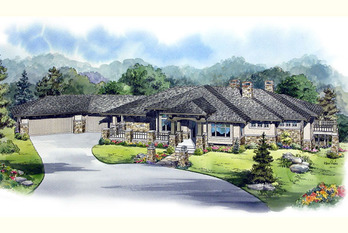 Exterior Front 4-Color Rendering