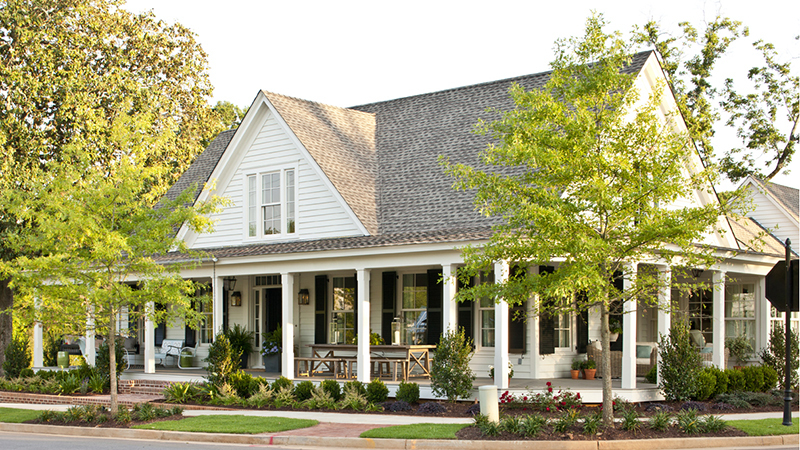 Farmhouse Revival - | Southern Living House Plans on layout of a house with garage, rambler house without garage, ranch house with side garage, rambler house plans and designs, rambler style home, home plans side garage,