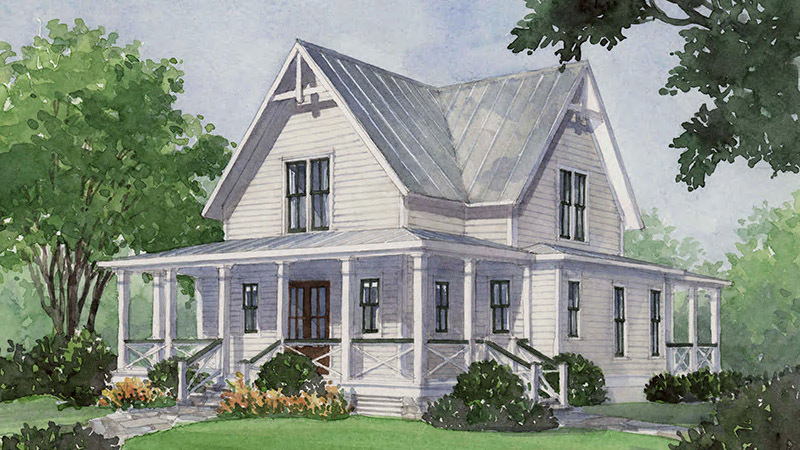 Four Gables - | Southern Living House Plans on raised roof design, flat house plans, condo house plans, heavy duty house plans, raised roof kitchen, raised roof home, garage house plans, windows house plans, tv house plans, raised roof construction, floor house plans,