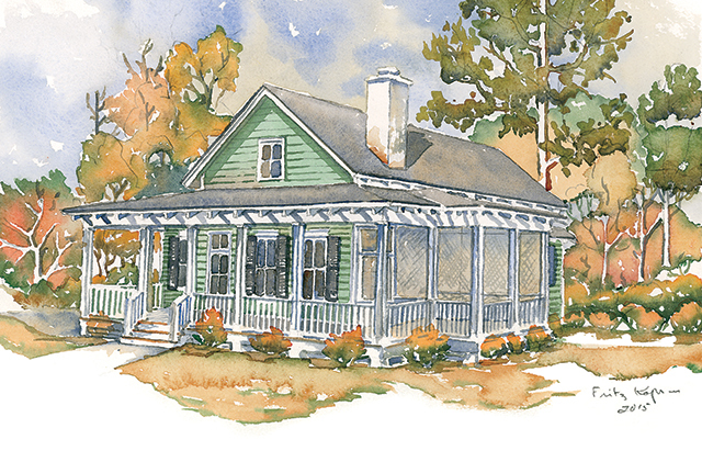 Woodward southern living house plans for Southern living house plans with keeping rooms