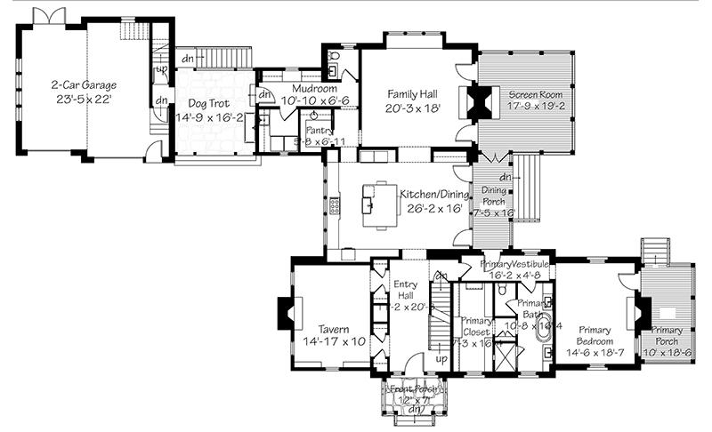 Front Exterior Main Level Floor Plan