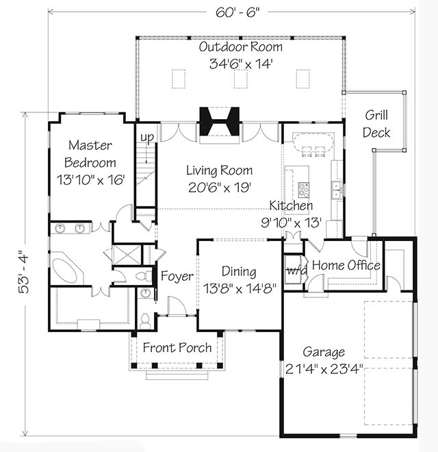 Main Level Floor Plan