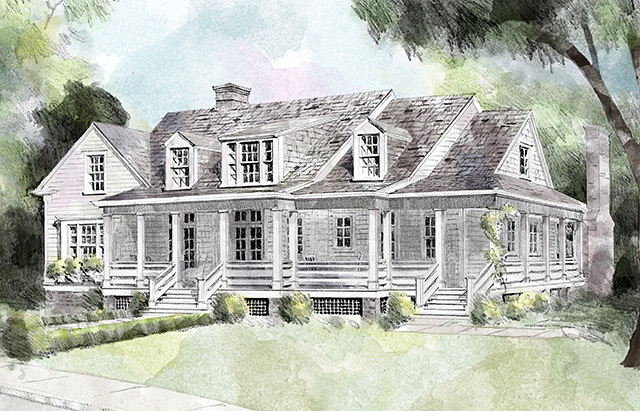 Hilltop Lake - | Southern Living House Plans on