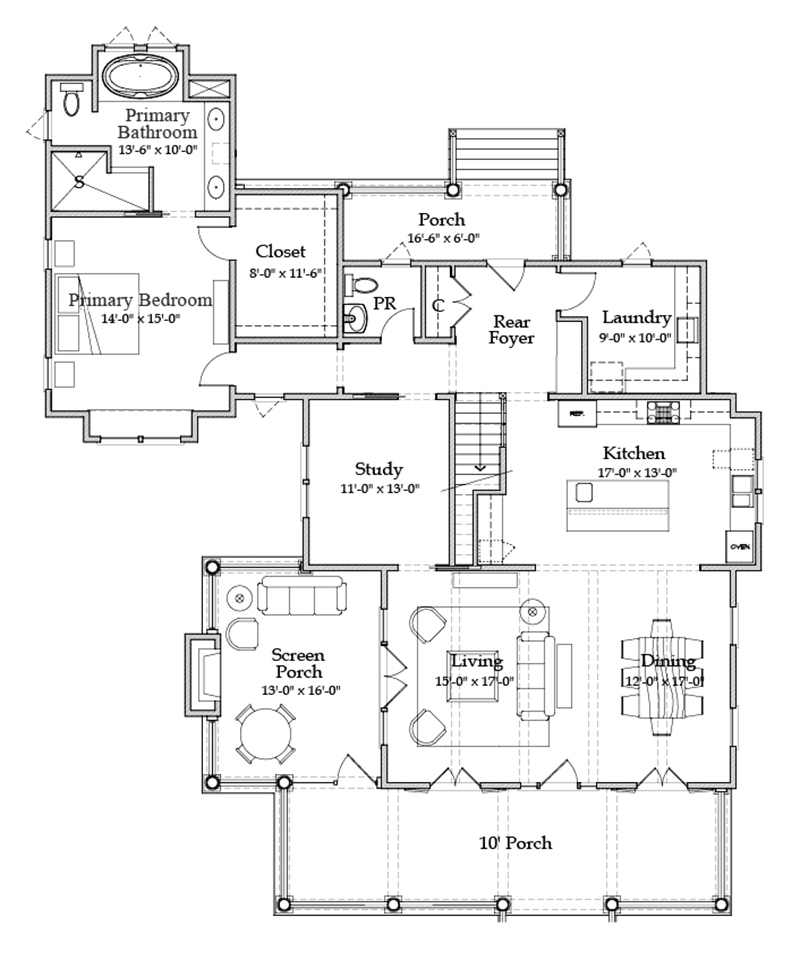 River Place Cottage Coastal Living House Plans