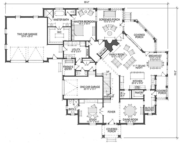Colonial Revival Southern Living House Plans