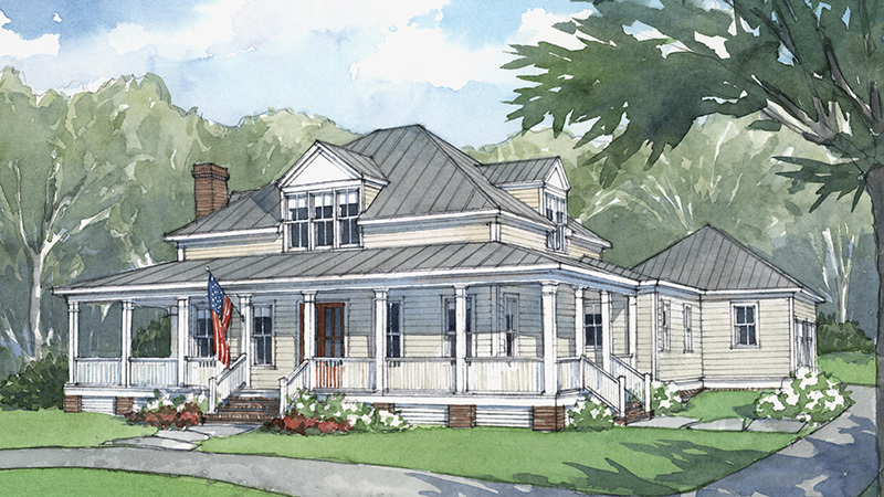 Country Style House Plan - 3 Beds 2.5 Baths 2112 Sq/Ft ... |Old American Farmhouse Plans
