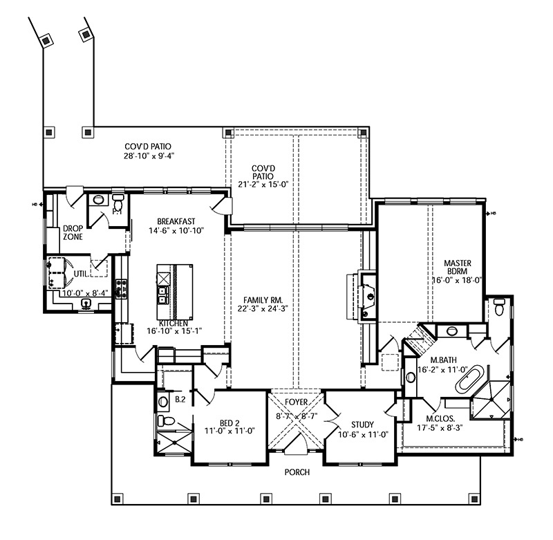 Legacy Ranch Southern Living House Plans
