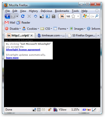 Updating Silverlight js and Firefox 3