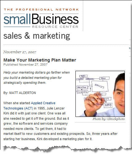 marketing plans for small business
