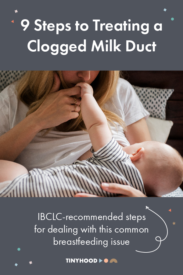 What do I do about my clogged duct? Dana, IBCLC, shares her steps for dealing with this common breastfeeding issue.