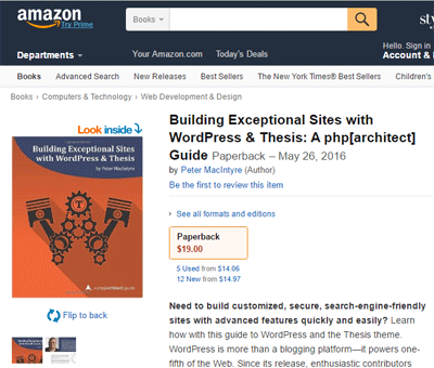 Building Exceptional Sites with WordPress Book Cover