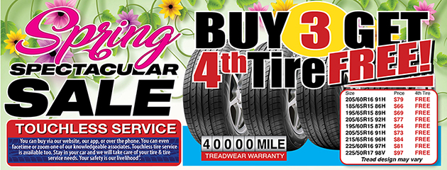 Spring Spectacular Tire Sale