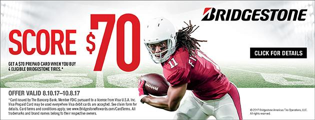 Bridgestone Score $70 Rebate