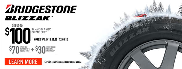 Bridgestone BLIZZAK Rebate