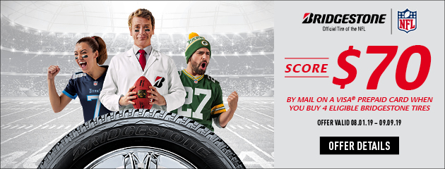 Bridgestone August Rebate