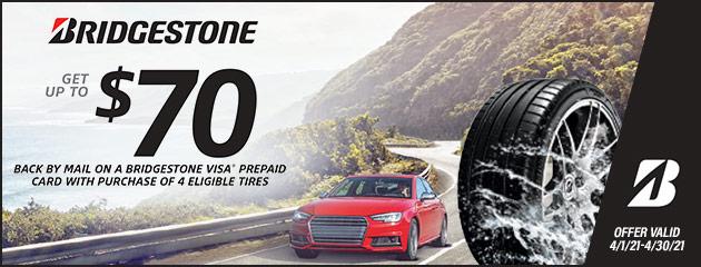 Bridgestone Spring 2021 Rebate