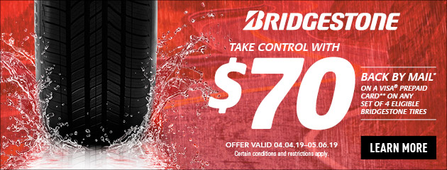 Bridgestone Take Control Rebate