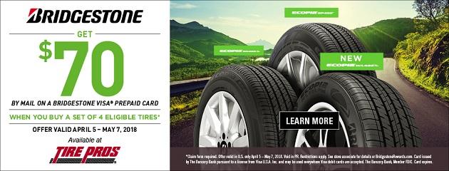 Bridgestone Spring Rebate