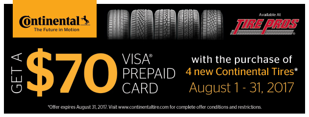 Continental Summer Promotion: $70 Mail in Rebate