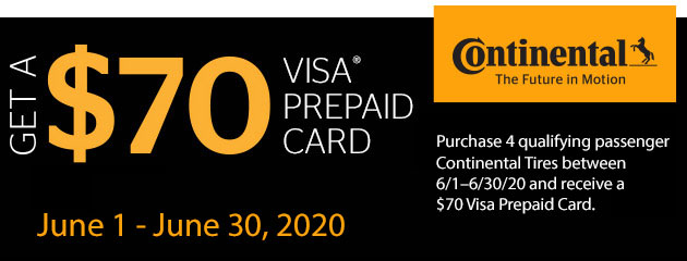 Continental Summer 2020 Rebate