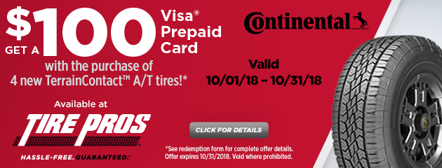 Continental Fall Rebates
